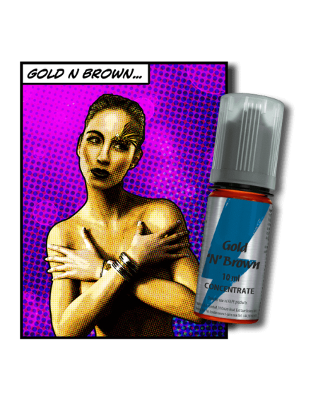Buy T-Juice Gold 'n' Brown Aroma| RoyalSmoke.co.uk