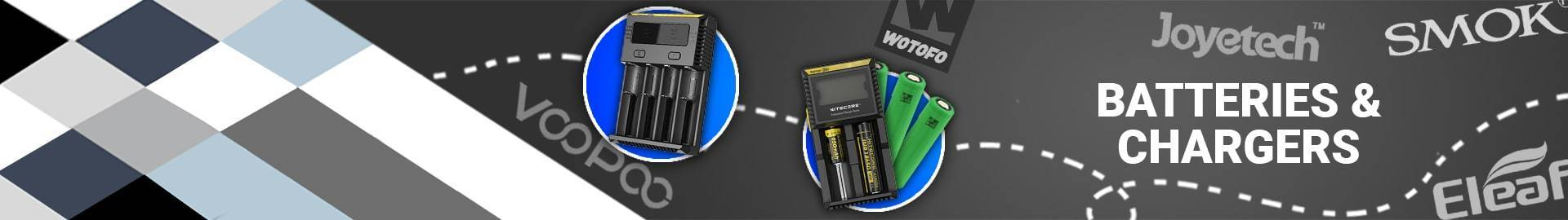 Batteries and chargers  | Royalsmoke.co.uk